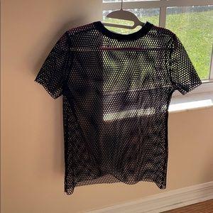 Missguided fishnet t-shirt